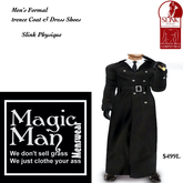 Slink Physique Men's Formal Trencecoat set-Box