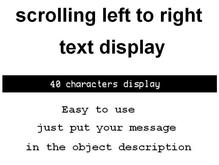 scrolling text display 40 left to right