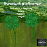 Sequin Shamrocks
