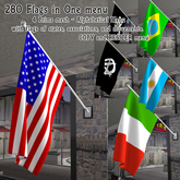 280 Flags from all over the world, states, associations, and movements in a menu - Mesh Flag - High quality - Bandiera