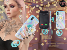#187# Peace & Love Phone Case *Holding*