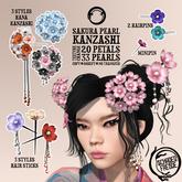 Schadenfreude Sakura Pearl Kanzashi