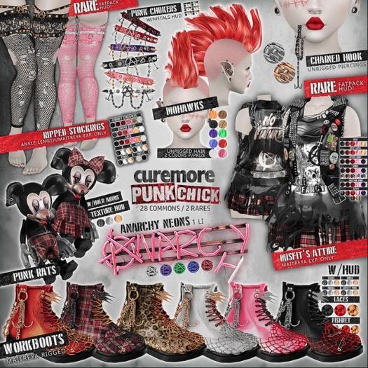 CUREMORE / Punk Chick / Punk Choker / PURPLE