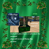 Magical Irish celebrations Music Box Plays Danny Boy-Box