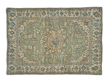 Dutchie blue and green mesh rug