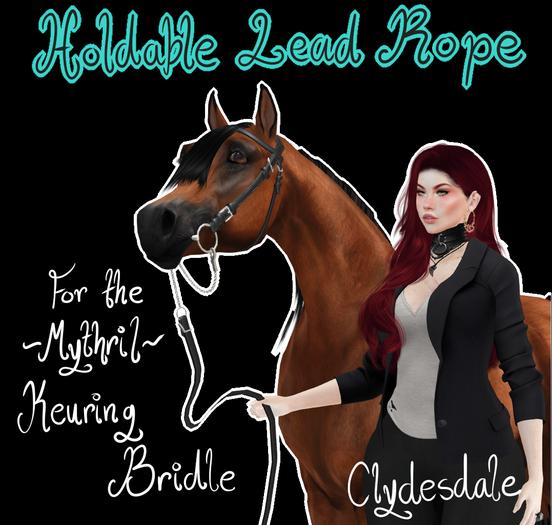 ~Mythril~ Keuring Halter Addon: Held Lead Ropes (Clydesdale)