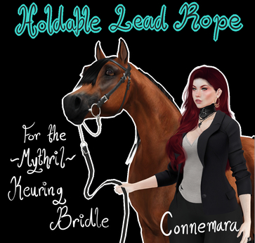 ~Mythril~ Keuring Halter Addon: Held Lead Ropes (Connemara)