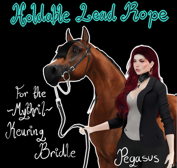 ~Mythril~ Keuring Halter Addon: Held Lead Ropes (Pegasus)