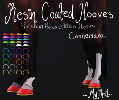 ~Mythril~ Resin Coated Hooves (Connemara)