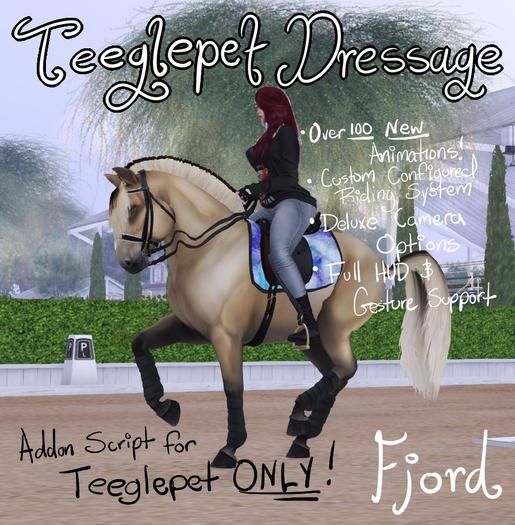 ~Mythril~ Teeglepet Dressage: Fjord Horse