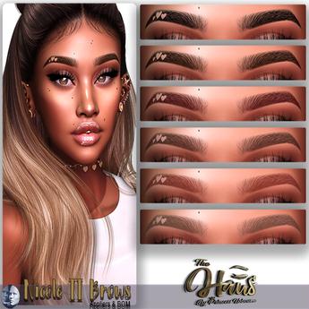 .:the-HAUS:. Nicole II BOM & Applier Eyebrows (Genus)