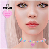 uh-oh: (Babygirl) Naughty Candy Necklace Collar With RLV Option