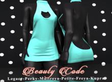 *Beauty Code* - Dress Vicky - Green Light