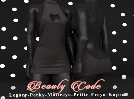 *Beauty Code* - Dress Vicky - Black