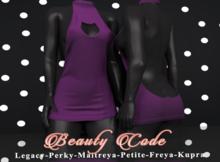 *Beauty Code* - Dress Vicky - Purple
