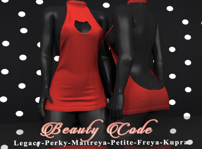 *Beauty Code* - Dress Vicky - Red