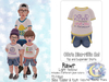 {SMK} Otto's Dino-riffic Set | Rawr - Light Yellow | Bebe Toddler & Youth + Toddleedoo Fitted