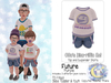 {SMK} Otto's Dino-riffic Set | Future - Purple | Bebe Toddler & Youth + Toddleedoo Fitted