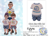 {SMK} Otto's Dino-riffic Set | Future - Blue | Bebe Toddler & Youth + Toddleedoo Fitted
