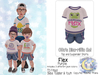 {SMK} Otto's Dino-riffic Set | Flex - Purple | Bebe Toddler & Youth + Toddleedoo Fitted