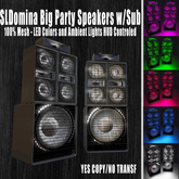 # Nexus DJ Series BIG speaker with Subwoofer system color led and light ambient - remote control - 100% Mesh NEW 2021