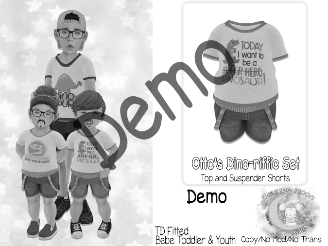 {SMK} Otto's Dino-riffic Set   DEMO    Bebe Toddler & Youth + Toddleedoo Fitted
