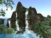 Jungle waterfall mountain, offsim + foam