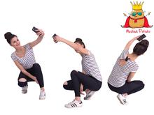 Meshed Potato - Squatting Girl Selfie Mesh Person  - Full Perm Mesh