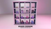 HEXAGON mafia girl shelving with shoes