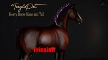 Cheval D'or / TeeglePet Friesian / Heavy Horse Mane&Tail. [HUD]