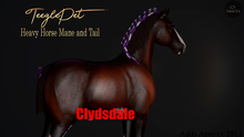 Cheval D'or / TeeglePet Clydesdale / Heavy Horse Mane & Tail.