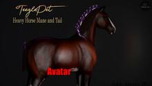 Cheval D'or / TeeglePet Avatar / Heavy Horse Mane & Tail. [HUD]
