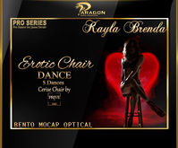 Kayla Brenda Erotic Chair Dance Pack (Cerise Chair included)