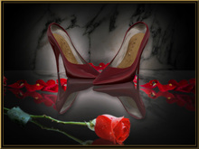 The feel of a sexy Stiletto: Je t'aime Pumps Stiletto *Diana* bloodred