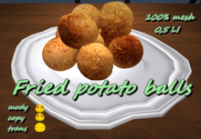 Fried potato dumplings *Box*