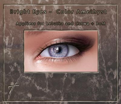 Tville - Bright Eyes *Amethyst* for Lelutka EVO / LeL EVO X / Catwa / BoM