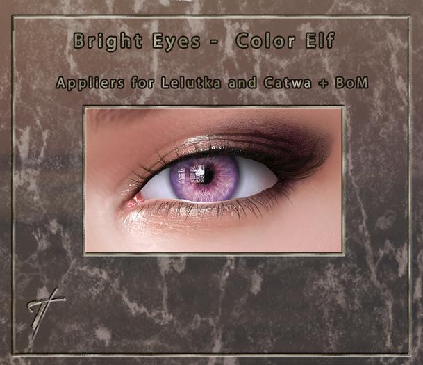Tville - Bright Eyes *Elf* for Lelutka EVO / LeL EVO X / Catwa / BoM