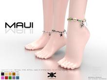 Maui :: Woman Anklet Bracelet :: 10 Colors :: {kokoia}