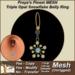 Freya's Finest MESH Triple Opal Snowflake Belly Ring