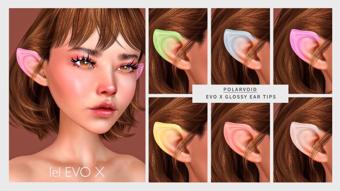 [POLARVOID] Lelutka EvoX Glossy Ear Tips