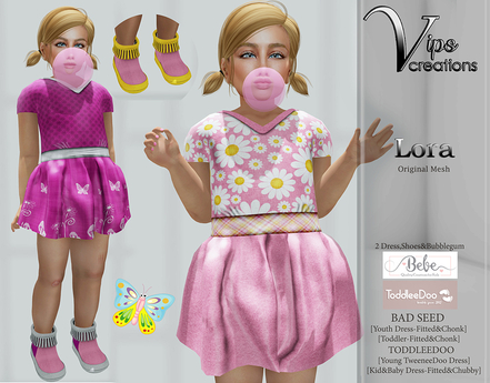 [Vips Creations] - Original Mesh Kid Outfit - [Lora 4]FITTED-Kids Dress