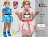 [Vips Creations] - Original Mesh Kid Outfit - [Lora 3]FITTED-Kids Dress