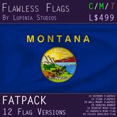 Montana, USA Flag (Fatpack, 12 Versions)