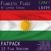 Kurdistan Flag (Fatpack, 12 Versions)