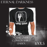 """::ED:: """"Game over"""" comedy t-shirt unisex"""
