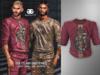 GUILTY 052 Art Shirt Snake/Wine