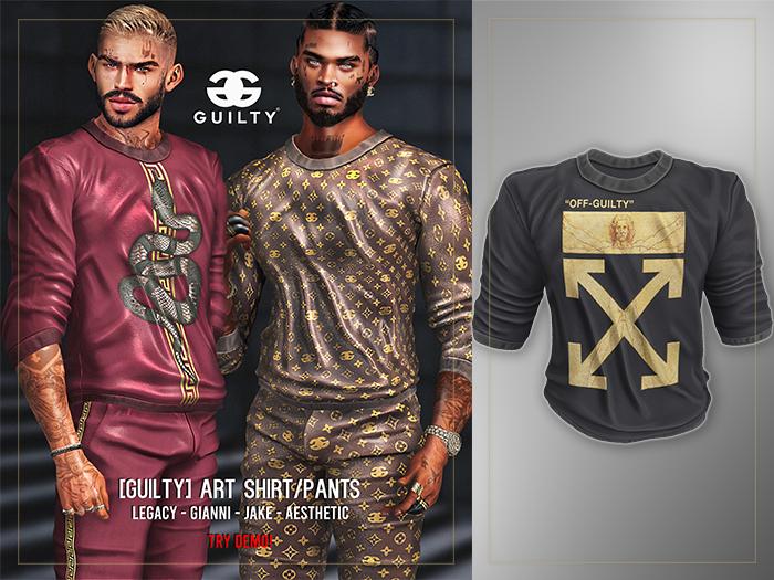 GUILTY 052 Art Shirt Off/Black