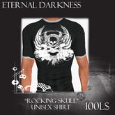 "::ED:: ""Rocking skull"" unisex shirt black"