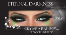 "::ED:: Cry me a rainbow-""envious green"" eye makeup"