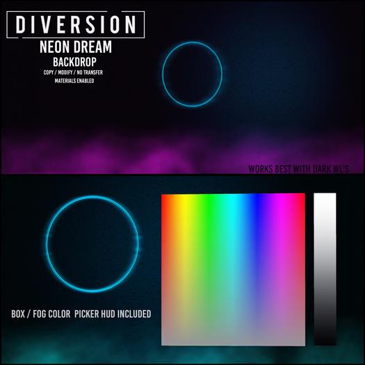 Diversion - Neon Dream - Backdrop (Wear To Unpack)